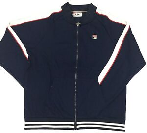 Details about Fila PeacoatWhite Chinese Red Thurber Jacket