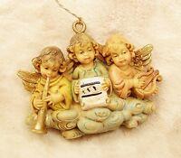 Italy Angel Cherub Old World Vintage Christmas Tree Ornament Lot 3