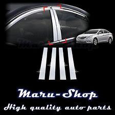 Chrome B-Pillar Post Decal Sticker Trim for 11~14 Hyundai Sonata/i45