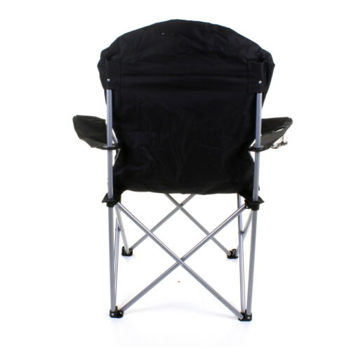 HEAVY DUTY CAMPING CHAIR LUXURY PADDED FOLDING HIGH BACK DIRECTORS W// CUP HOLDER