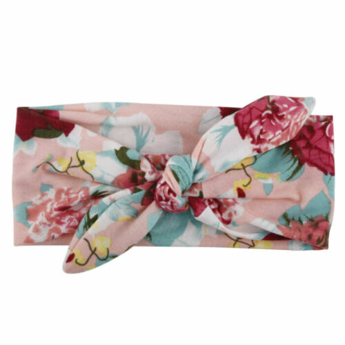 3Pcs Baby Girls Kids Flower Cotton Bowknot Headband Children Hair Band Headwear