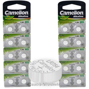 """20x Camelion Knopfzellen Alkaline Ag5 Lr48 Lr754 393"