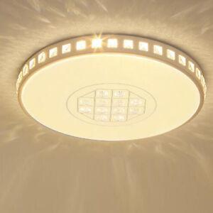 Details zu 36W Dimmbar Rund LED Kristall Design Deckenlampe Deckenleuchte  Schlafzimmer