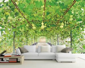 3D greene Rebe Frucht 85 Tapete Wandgemälde Tapete Tapeten Bild Familie DE Summer