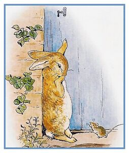Peter Rabbit Carries Onions by  Beatrix Potter Counted Cross Stitch Pattern