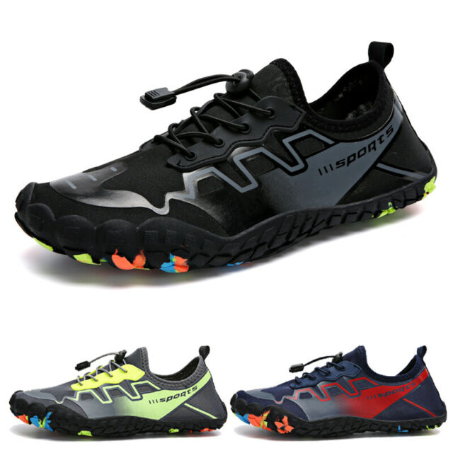 Mens Water Shoes Barefoot Skin Socks Quick Dry Aqua Beach Swim Sports Plus  Size