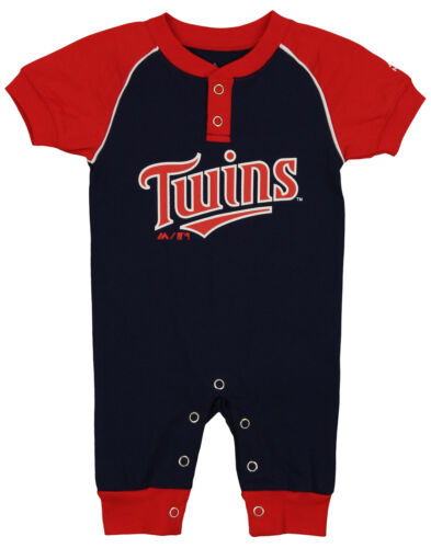 """Majestic MLB Infant Minnesota Twins /""""Game Time/"""" Coverall"""
