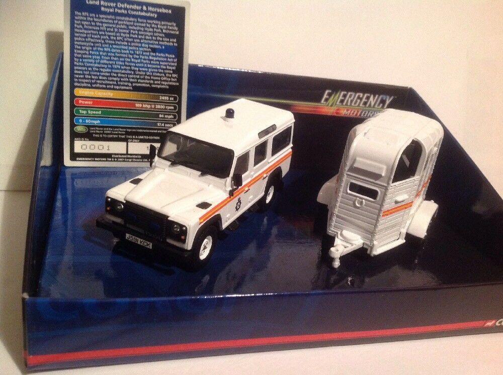 Corgi VA09710 Police Land Rover Defender & Horsebox Ltd Edition No. 0001 of 1710
