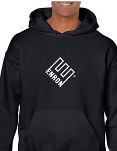 Company Sweatshirt Hooded Enron Black Energy White Logo Hoodie RtxRFTwzqS