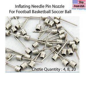 Utility 10X Ball Air Inflating Pump Needle Valve Adaptor Soccer Basketball S6