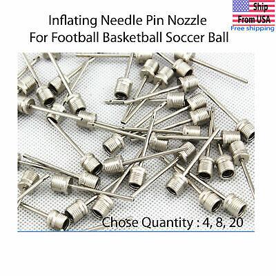 Sports Ball Inflating Air Pump Needle Pin Nozzle Soccer Basketball Football LOT!