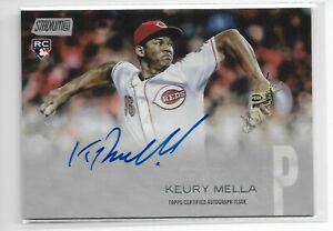 2018 Stadium Club autograph Keury Mella RC Cincinnati Reds