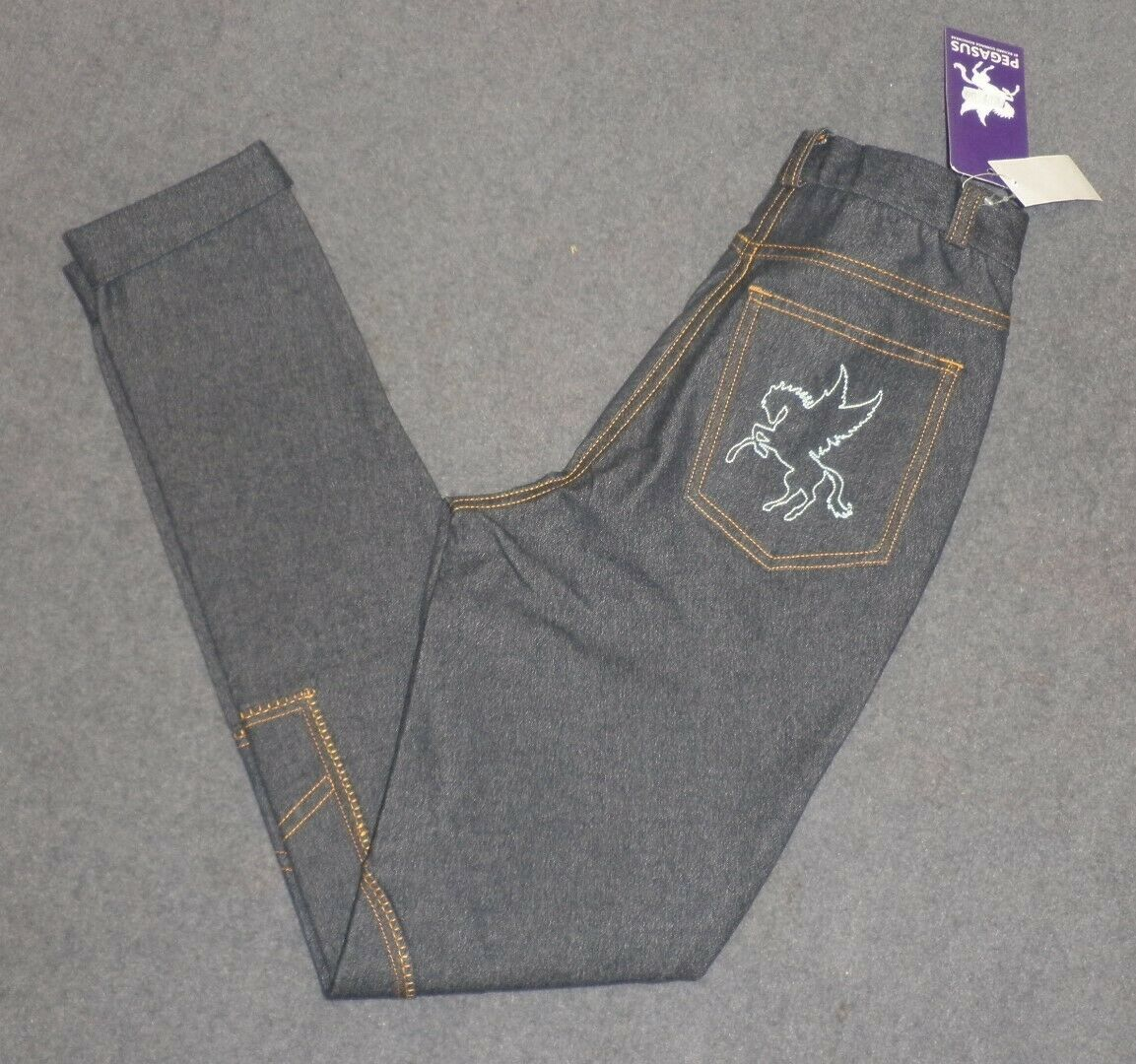Ladies Pegasus Navy denim  Jodhpurs Sizes 24   popular