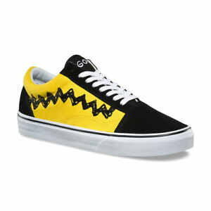 09480edf675 Details about Men s Vans x Peanuts Old Skool - Charlie Brown Black Yellow  VN08G1OHJ SZ 3-13 DS