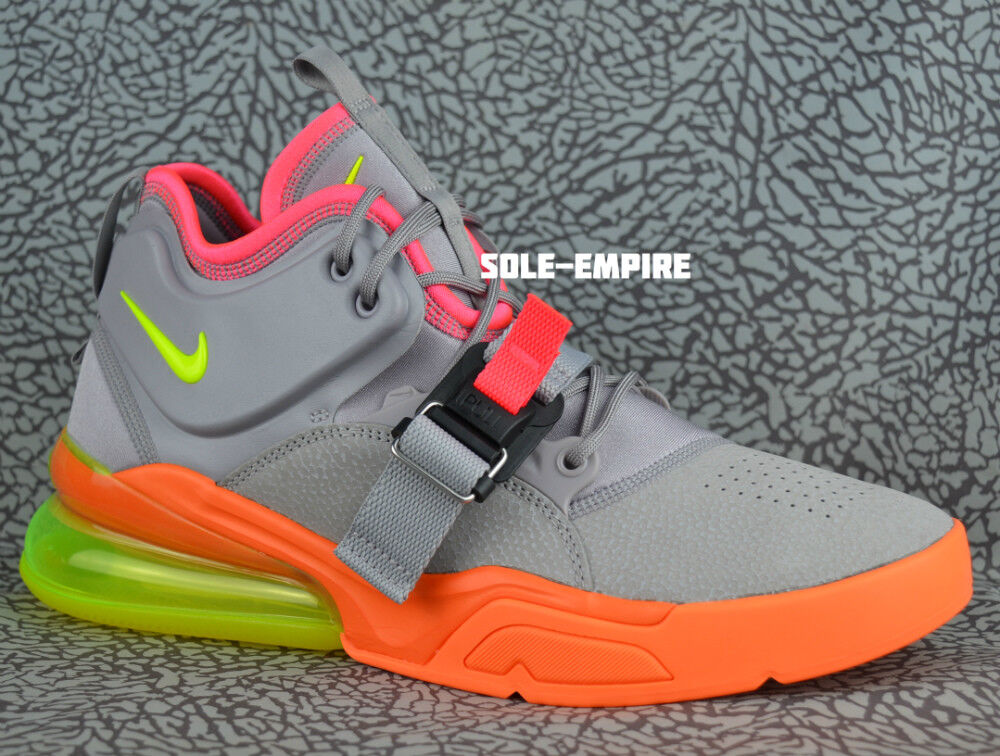 Nike Air Force 270 AH6772-007 Atmosphere Grey Volt orange Pink Men's NEW DS SALE