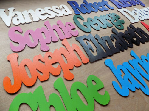 ANY NAME Wooden Name Plaque Board Word /& Letters for wall//door craft sign toybox