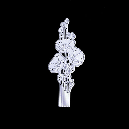Flower Framed Gift Cards Metal Cutting Dies For Scrapbooking Craft Xmas DecorQ9F