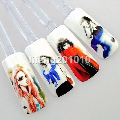 water transfer nail art stickers decals decoration tools watercolour painting C