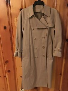 Vintage London Fog Trench Coat Lined 10 Petite 19 99 Ebay