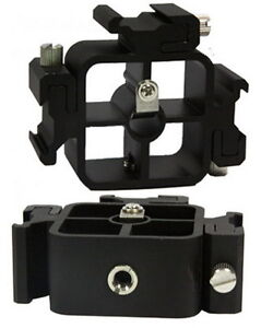 New-3-in1-All-metal-Tri-Hot-Shoe-Mount-Adapter-umbrella-hole-for-Light-Stand