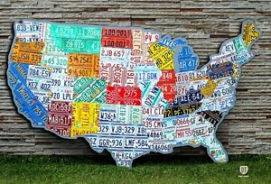 License Plate Map of the USA - Massive Huge Size - OOAK United ...