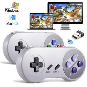 PC Game Controller Wireless Computer Joystick Joypad SNES