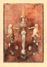 Pompeji Villa der Mysterien Göttin Isis mit 2 Panther Fresko Detail Faksimile 20