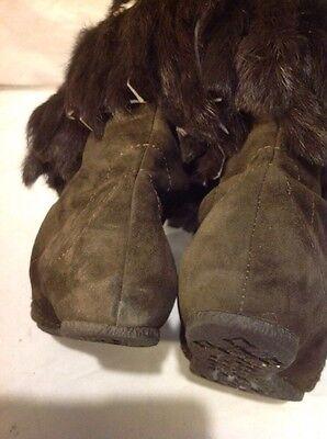 Ash ante marrón oscuro rodilla alta botas talla 39