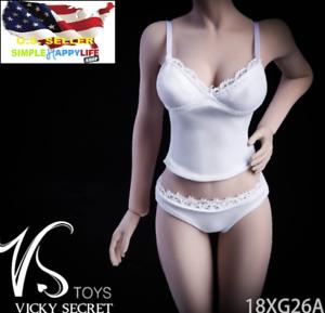 "1:6 Female Lace Underwear /& Vest for 12/"" Hot Toys//Phicen// Female Figure Toys"