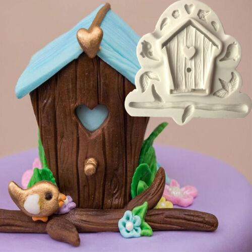 Cn /_Mignon en Bois Arbre Maison D/'Oiseau Moule à Gâteau Silicone Fondant