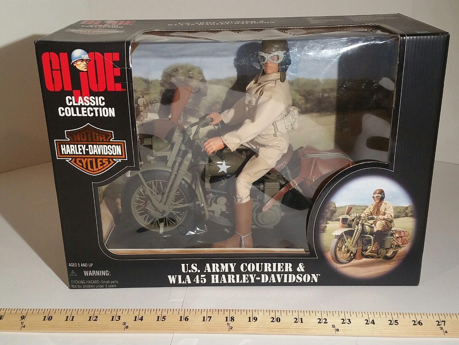 GI Joe 12in Army Courier WLA 45 Harley Davidson 35 Anniversary 1998 MIB  2