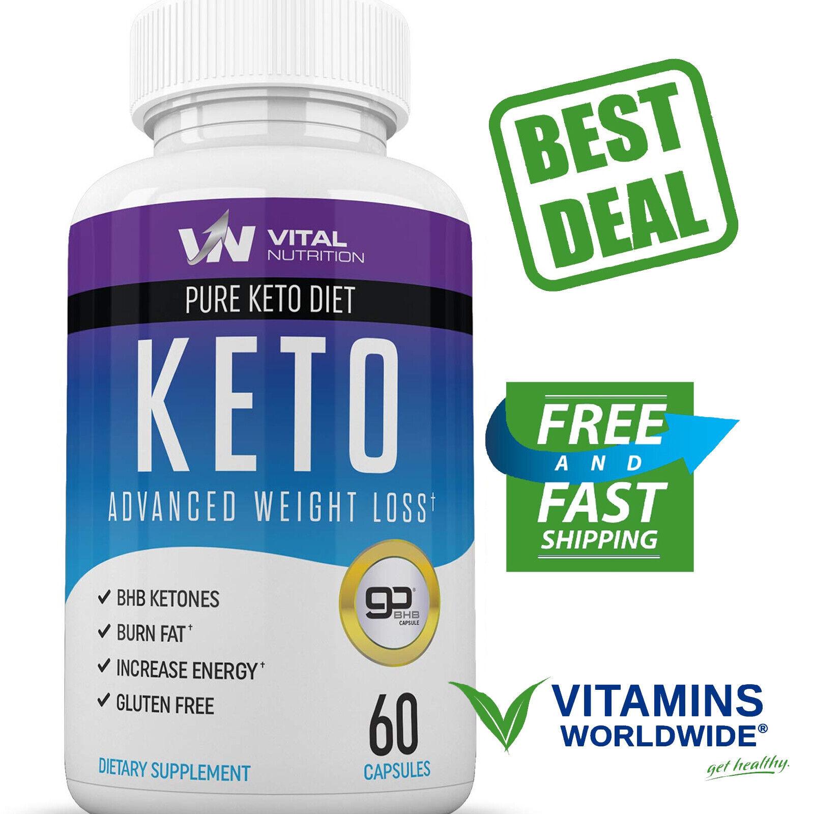 KETO BURN WEIGHT Loss Supplement Fat Burner Boost Energy Metabolism 60 Capsules 1