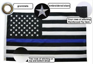 Thin-Blue-Line-American-Flag-Police-With-Embroidered-Stars-and-Sewn-Stripes-3x5