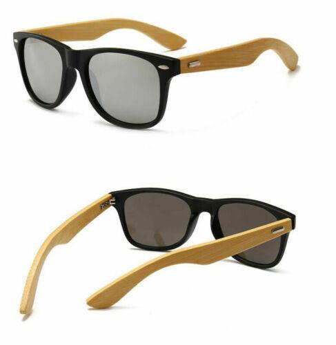 Mens Womens Bamboo Sunglasses Polarized Wooden Wood Retro Vintage Summer Glasses