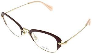 36b648431195 Miu Miu Eyewear Frame Women Cat Eye Red Gold MU530V UA5101