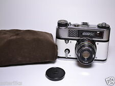 FED 5C White body Soviet/Russian 35mm Rangefinder Camera, Industar-61 L/D