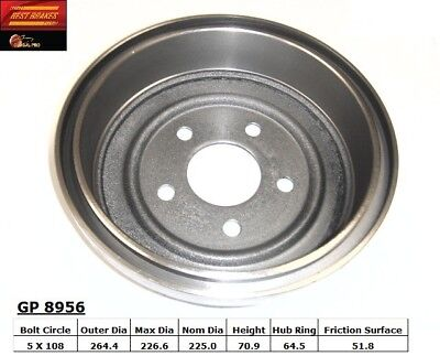 "NEW 9/"" Rear Brake Drum For 1971-1975 Vega Monza Astre Skyhawk 140204 3982204"
