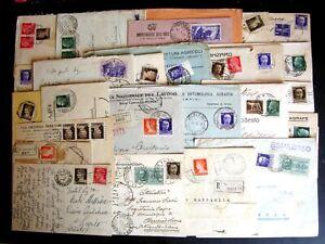 Regno-Storia-Postale-Floreale-Imperiale-Lotto-da-80-buste-del-settore-1