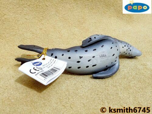 NOUVEAU * Papo Leopard Seal solide Jouet en plastique figure Wild Zoo Mer Animaux Marins