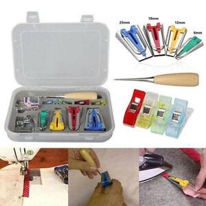 60pcs-Set-Fabric-Bias-Binding-Tape-Maker-Quilting-Kit-Binder-Sewing-Tool-Aw-YK