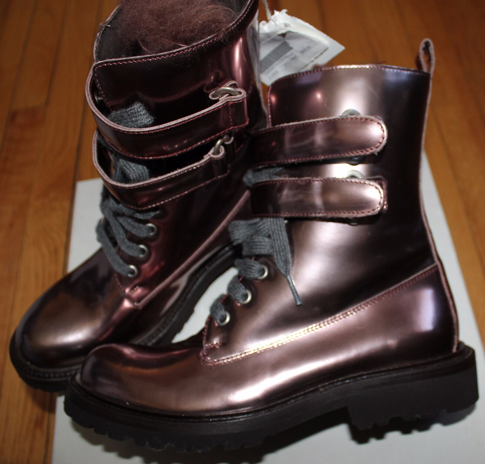 AUTHENTIC  1630 BRUNELLO CUCINELLI METALLIC COPPER Stiefel Stiefel COPPER SZ 37 EU/ 7 US ded607