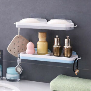 Bathroom Waterfall Soaps Plate Tray Holder USse Containers Suction Dish Storage