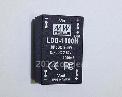 2pcs meanwell ldd-1000h led driver 1000mA