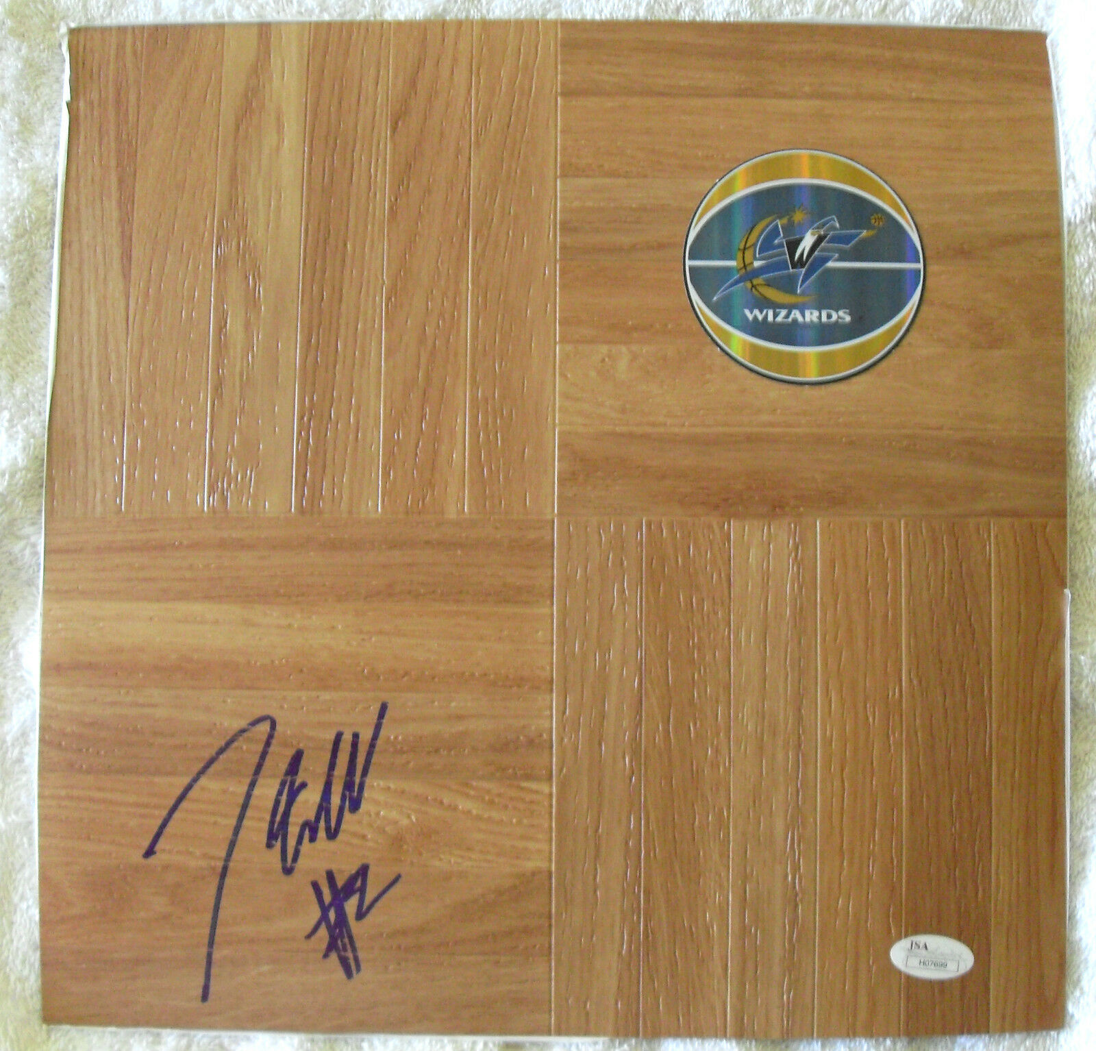 JOHN WALL SIGNED 12 x 12 FLOORBOARD NBA WIZARDS WILDCATS JSA COA H07699