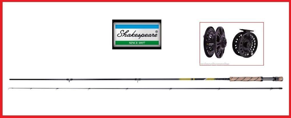 Shakespeare Cork Handle Carbon Fibre Fly Fishing Rod Omni & Reel Option  2pc