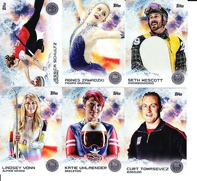 2016 Topps US USA Olympic and Paralympic GOLD Parallels Pick from List Flat S//H