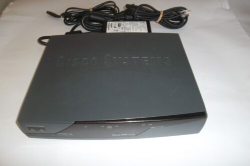 CISCO 800 SERIES INTEGRATED SERVICES ADSL ROUTER 877 /& POWER ADAPTER 4 PORT