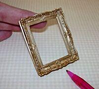 Miniature Fancy Rectangular Gold Resin Frame, Large: Dollhouse 1/12