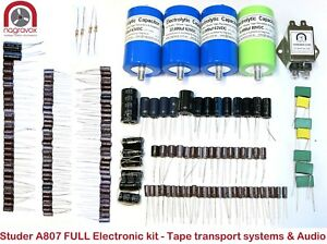 Studer-A807-FULL-Electronic-Tape-Systems-PSU-and-Audio-capacitor-overhaul-kit