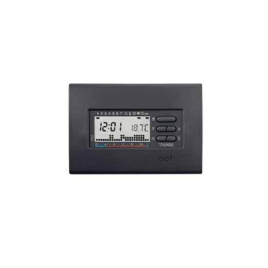Cronotermostato digitale da parete settihommeale gris Bpt TH 400